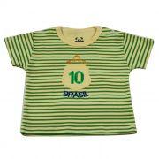 Camiseta Curta Baby Brasil