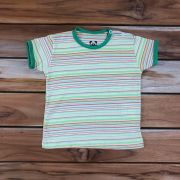 Camiseta Curta Baby Listrada