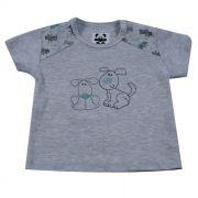 Camiseta Curta Baby Mescla