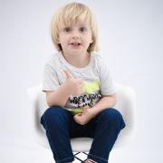 Camiseta Curta Comemorativo Kids Mescla