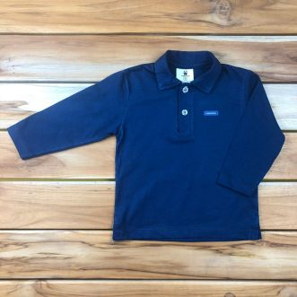 Camiseta Longa Azul
