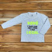 Camiseta Longa Comemorativo Kids Mescla