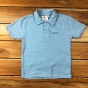 Camiseta Polo Curta Azul