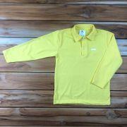 Camiseta Polo Longa Amarela