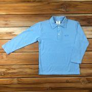Camiseta Polo Longa Azul