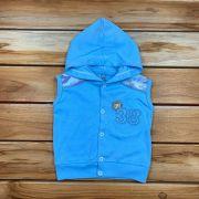 Casaco Regata com Capuz Baby Azul