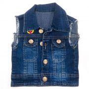 Colete Jeans Kids Azul Escuro