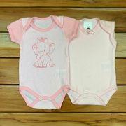 Conjunto 2 Body Baby Rosa