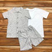 Conjunto Camisa Camiseta e Shorts Mescla