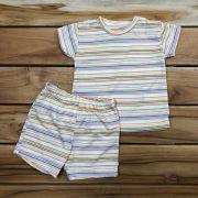 Conjunto Curto Baby Amarelo List