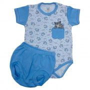 Conjunto Curto Baby Azul
