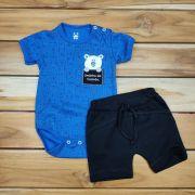 Conjunto Curto Baby Azul de Ursos