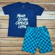 Conjunto Curto Kids Azul