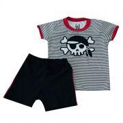Conjunto Curto Kids Temático Pirata