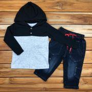 Conjunto Kids Casaco e Calça Jeans
