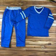 Conjunto Longo Moletom Kids Azul