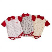 Kit Baby Body 3 Pc Estampados