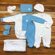 Kit Saída Maternidade Branco - 9 peças