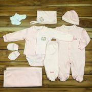 Kit Sáida Maternidade Rosa - 9 peças