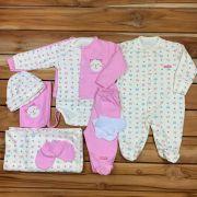 Kit Maternidade Rosa - 9 PEÇAS