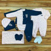 Kit Saída Maternidade Rosa e Azul - 9 peças
