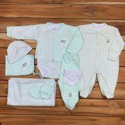 Kit Maternidade Verde - 9 PEÇAS