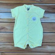 Macacão Curto Baby Amarelo