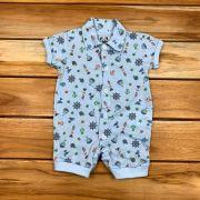 Macacão Curto Baby Azul