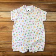 Macacão Curto Baby Branco