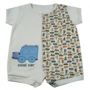 Macacão Curto Baby Cru