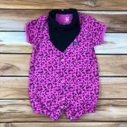 Macacão Curto Baby Pink