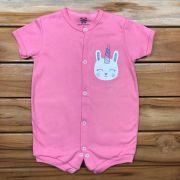 Macacão Curto Baby Rosa