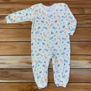 Macacão Longo Baby Cru