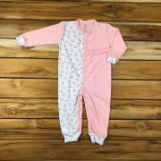Macacão Longo Baby Rosa