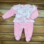 Macacão Longo Baby Rosa de Plush