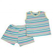 Pijama Curto Baby Amarelo