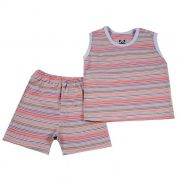 Pijama Curto Baby Lilás
