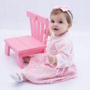 Vestido Baby com Casaco Rosa