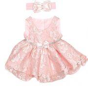Vestido de Festa em Renda Rosa