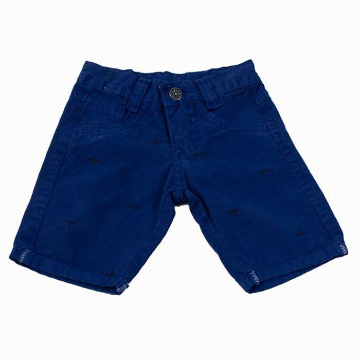 Bermuda Sarja Kids Azul Escuro
