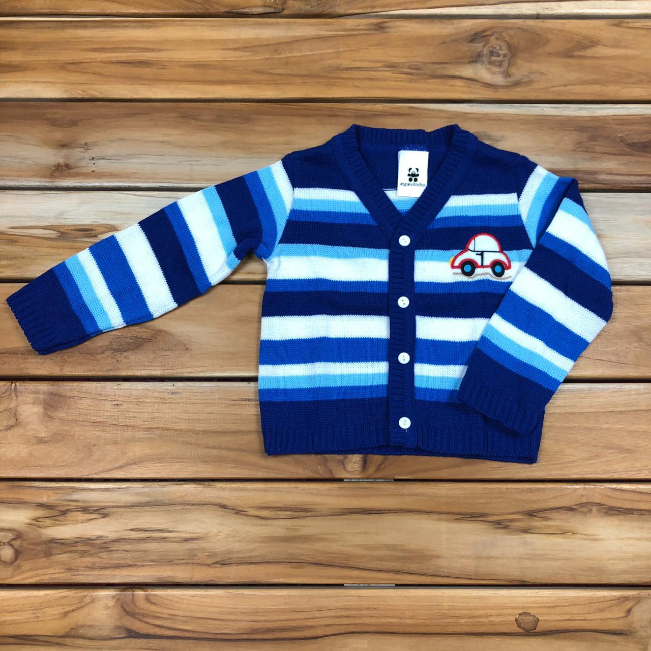Blusa Tricô Infantil Azul
