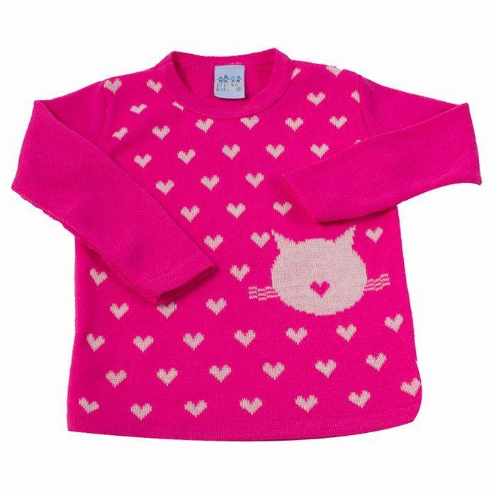Blusa Trico Infantill Pink