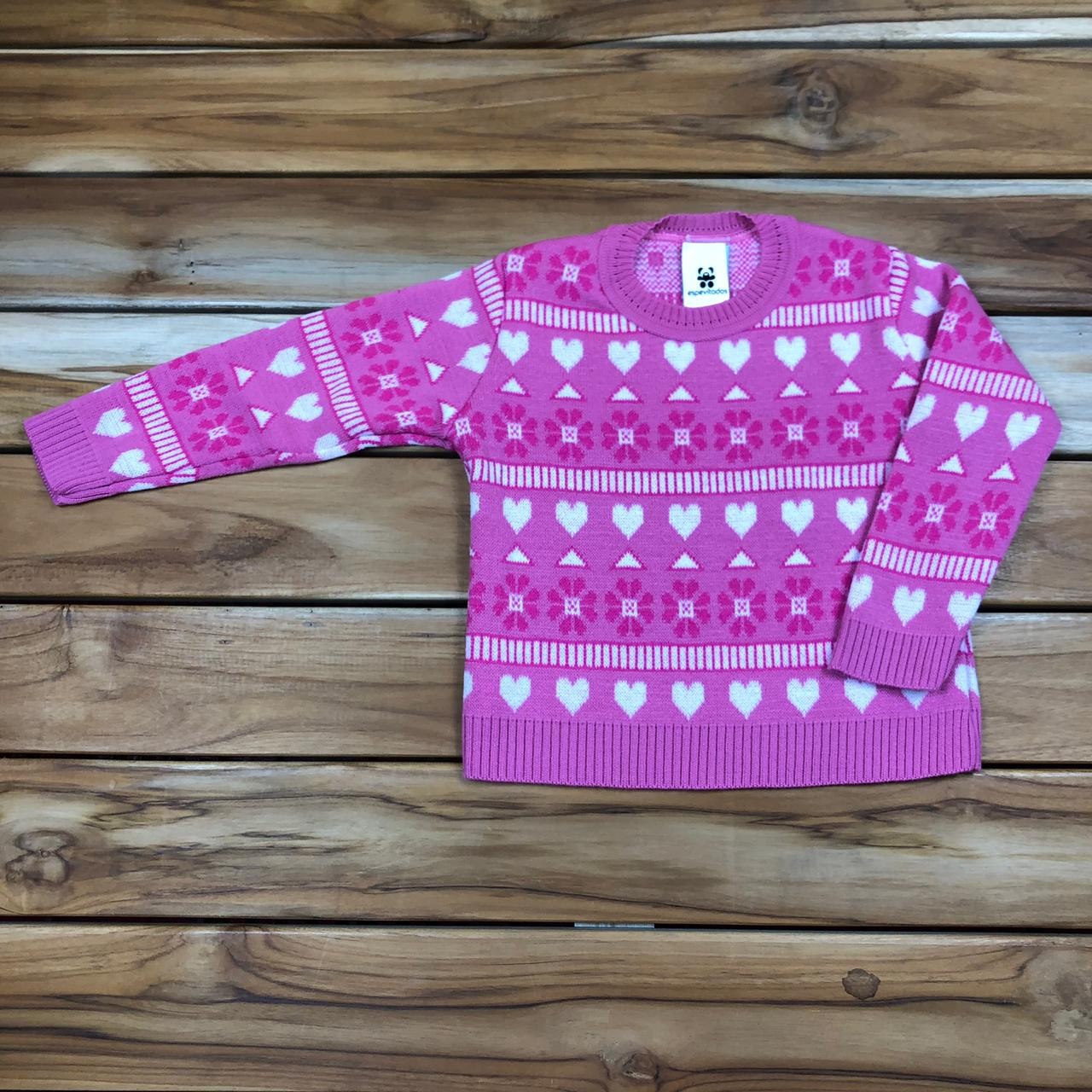 Blusa Tricô Infantil Pink