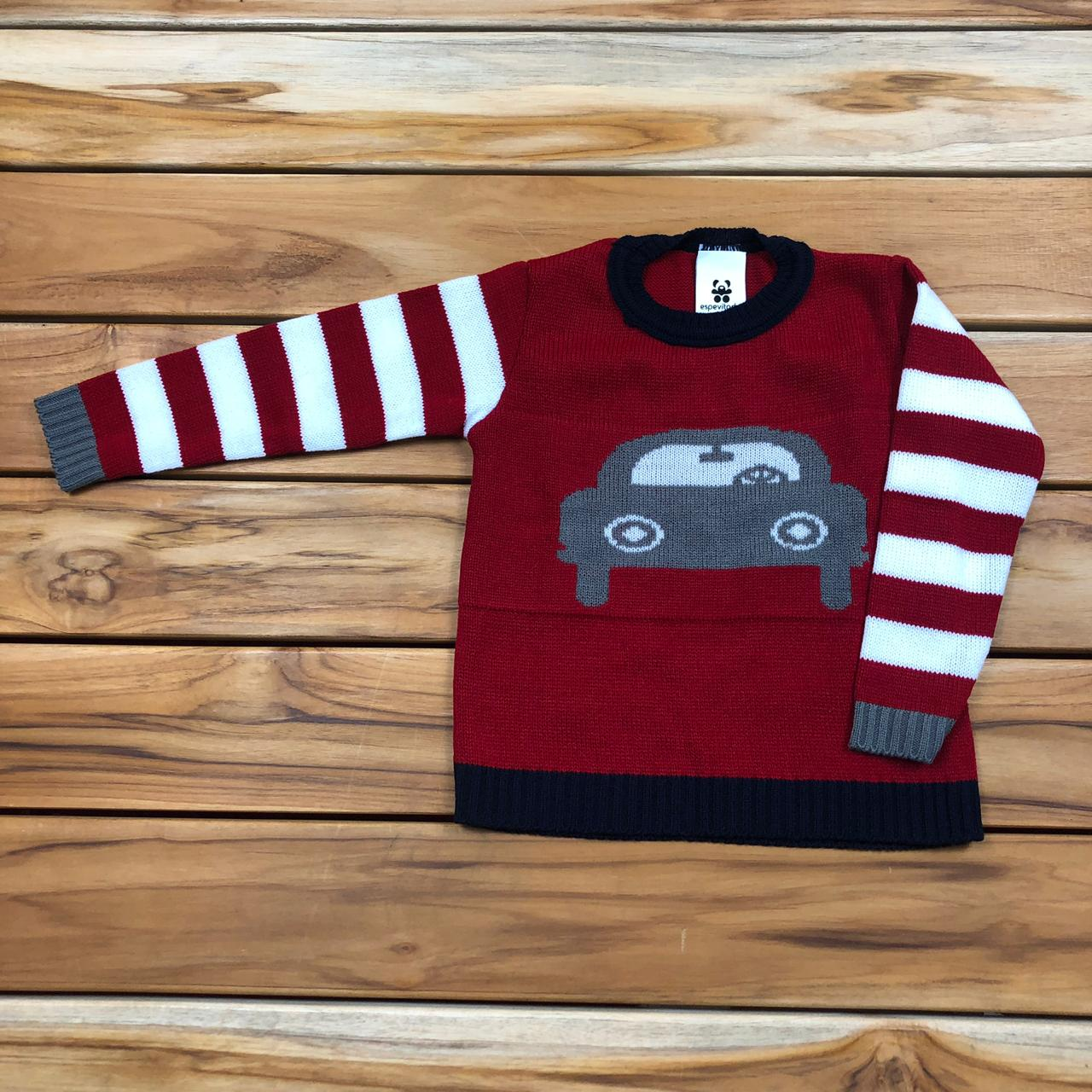 Blusa Tricô Infantil Vermelha