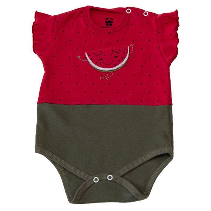 Body Bebê Temático Melancia