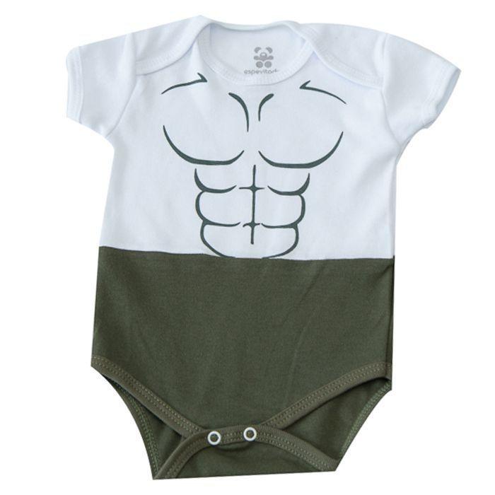 Body Bebê Temático Músculo