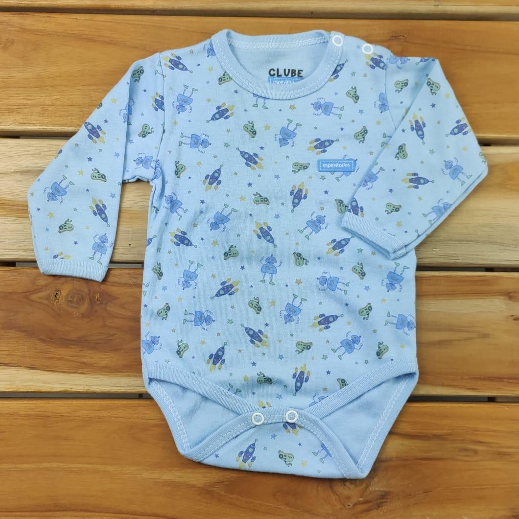 Body Bebê Azul Espaço