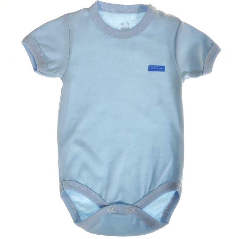 Body Bebê Liso Azul