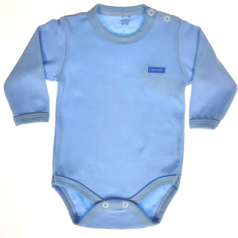 Body Bebê Longo Azul