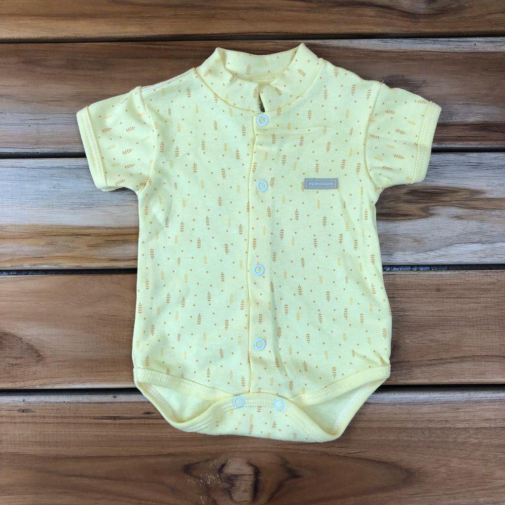 Body Curto Bebê Amarelo Neutro